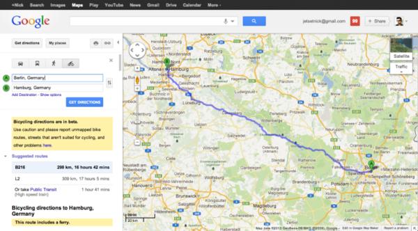 google地图欧洲-谷歌地图为德法等5国添加自行车导航功能